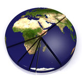 Pie_chart_Earth Royalty Free Stock Photography