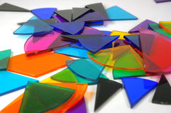Pie chart explosion. Bits of pie chart scattered around Stock Photography