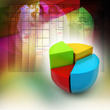 Pie chart, financial concept. In colorful background Stock Photo