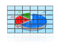Pie chart. Flat panels with pie chart Royalty Free Stock Images