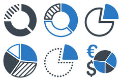 Pie Chart Flat Vector Icons Royalty Free Stock Images
