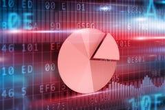 Pie-chart on futuristic background Stock Photo