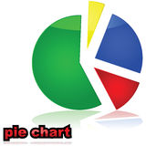 Pie chart graph Royalty Free Stock Photos