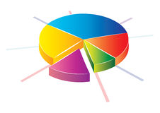 Pie chart icon Stock Photo