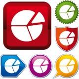 Pie chart icon Stock Photography