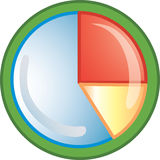 Pie chart icon. Or symbol Royalty Free Stock Image