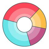 Pie chart icon, cartoon style. Pie chart icon. Cartoon illustration of pie chart vector icon for web Stock Photos
