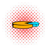 Pie chart icon, comics style Royalty Free Stock Image