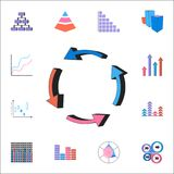 Pie chart icon. Detailed set of Charts & Diagramms icons. Premium quality graphic design sign. One of the collection icons for web. Pie chart icon. Detailed set Royalty Free Stock Photography