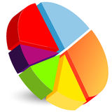 Pie chart icon Stock Photos