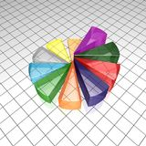 Pie chart illustration Royalty Free Stock Photography