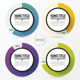 Pie chart. Infographic design template. Business concept. Vector. Illustration Royalty Free Stock Photo