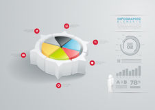 Pie chart infographic design Royalty Free Stock Photography