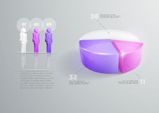 Pie chart infographic design Stock Images