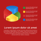 Pie chart on isolated background. Isometric pie charts different. Heights. Business data, colorful elements for infographics. Vector illustration Stock Photo