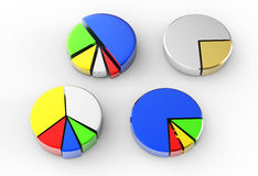 Pie chart on isolated background Stock Photography