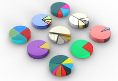 Pie chart on isolated background Stock Image