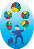 Pie Chart Juggler Stock Images