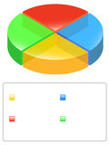 Pie chart with legend. Illustration of 3D colored pie chart with legend Royalty Free Stock Photography