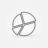 Pie chart line icon Stock Photo