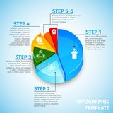 Pie chart meeting infographic Stock Photography