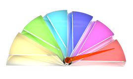 Pie chart of multicolored translucent glass Royalty Free Stock Image