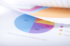 PIE CHART AND OTHER PAPERS Stock Images