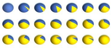 Pie Chart Percentage Graphics. Bitmap Illustration of Pie Chart Percentage Graphics (from 0% to 100% in 5% increments Stock Photography