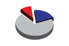 Pie Chart Pieces Stock Photography