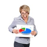 Pie chart profits Stock Photo
