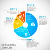 Pie chart real estate infographic Stock Images