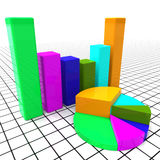 Pie Chart Report Means Business Graph And Data Stock Images