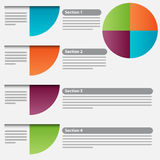 Pie Chart Section Icon Set Royalty Free Stock Photography