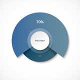 Pie chart. Share of 70 and 30 percent. Circle diagram for infographics. Vector banner. Can be used for chart, graph, data visualization, web design Stock Photos
