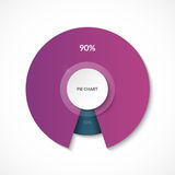 Pie chart. Share of 90 and 10 percent. Circle diagram for infographics. Vector banner. Can be used for chart, graph, data visualization, web design Royalty Free Stock Photo