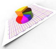 Pie Chart Shows Business Graph And Biz Stock Images