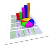 Pie Chart Shows Business Graph And Charting Royalty Free Stock Images