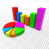 Pie Chart Shows Business Graph And Charting Royalty Free Stock Image