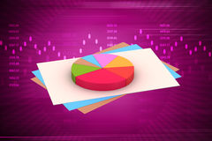 Pie chart with statement Royalty Free Stock Image