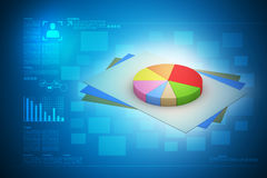 Pie chart with statement Stock Images