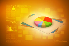 Pie chart with statement Royalty Free Stock Images