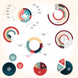 Pie chart style Royalty Free Stock Images