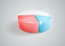 Pie Chart. Vector illustration of pie chart Royalty Free Stock Photo
