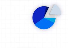 Pie chart on a white grid Stock Images