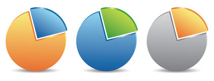 Pie charts. Set of pie charts in vector Stock Illustration