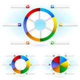 Pie charts Royalty Free Stock Photography