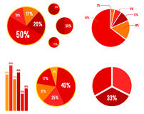 Pie Charts And Bar Graphic Statistics. Vector Illustration Royalty Free Stock Image