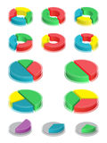 Pie charts. Elements of infographic Royalty Free Stock Photos