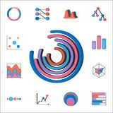 Pie charts icon. Detailed set of Charts & Diagramms icons. Premium quality graphic design sign. One of the collection icons for we. Pie charts icon. Detailed set Stock Photo