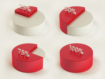 Pie Charts. Infographics Elements with Clipping Path vector illustration